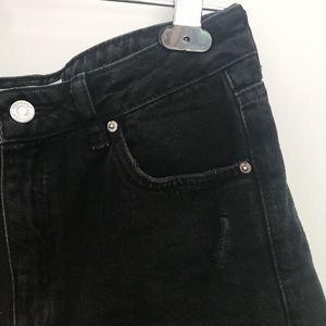 Topshop Black Tall Mom Shorts